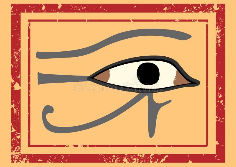 Egyptiskt öga av Horus royaltyfri illustrationer