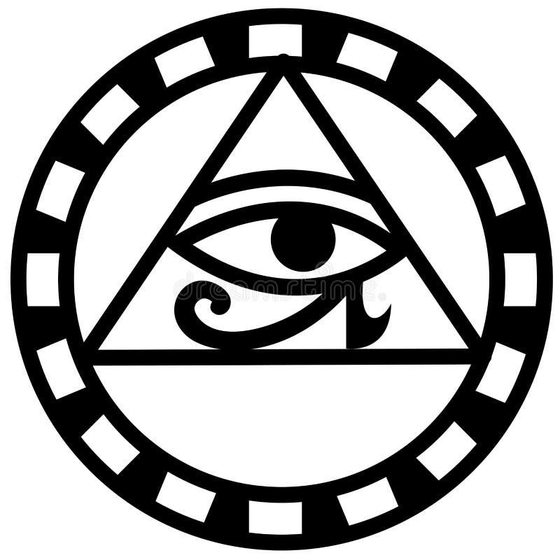 Egyptiskt öga av horussymbolen royaltyfri illustrationer