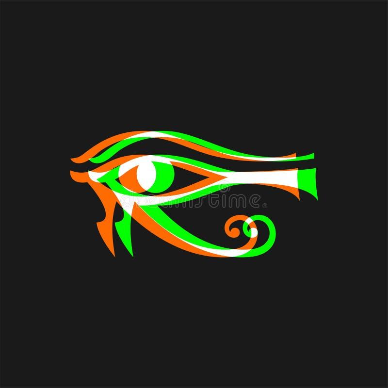 Egyptiskt öga för visuell effekt vektor illustrationer