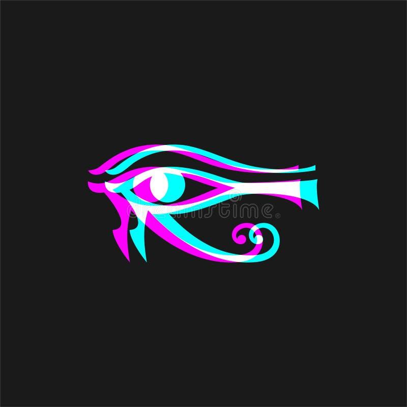 Egyptiskt öga för visuell effekt royaltyfri illustrationer