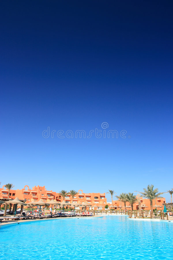 Egyptiskt hotell royaltyfria bilder