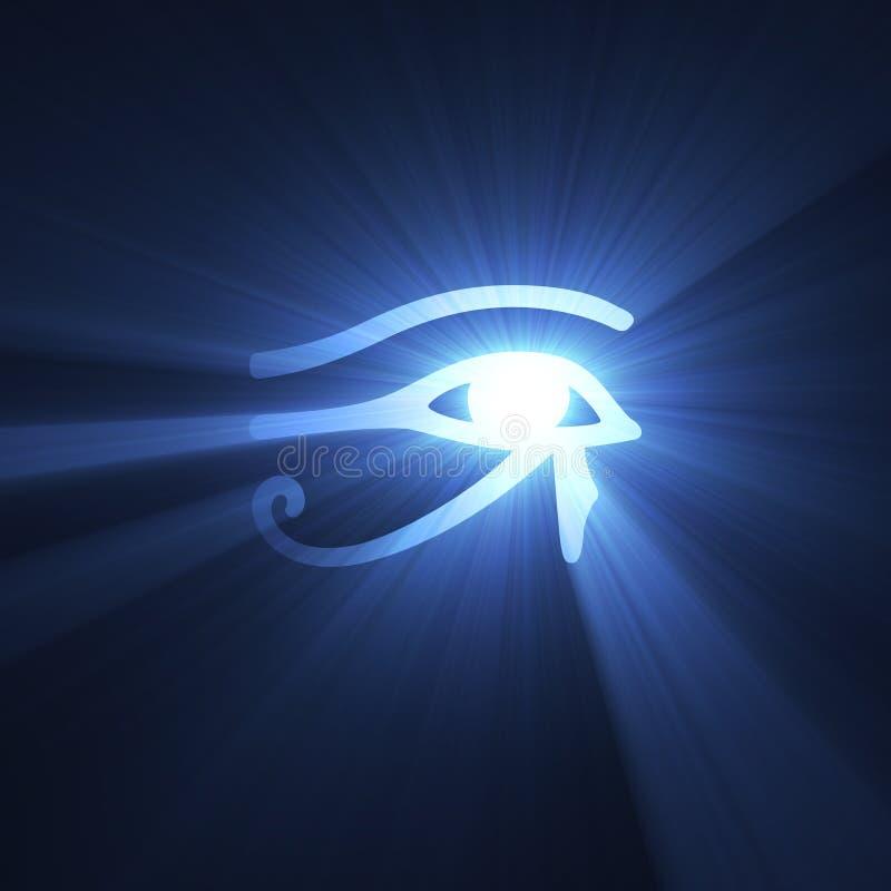 egyptiskt symbol för lampa för ögonsignalljushorus royaltyfri illustrationer
