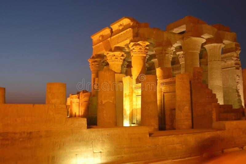 egyptiskt tempel arkivfoto