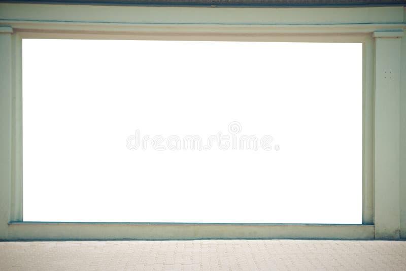 Egzamin próbny Up Duży pusty billboard outdoors, plenerowej reklamy signboard, informaci publicznej deska na ścianie obrazy stock