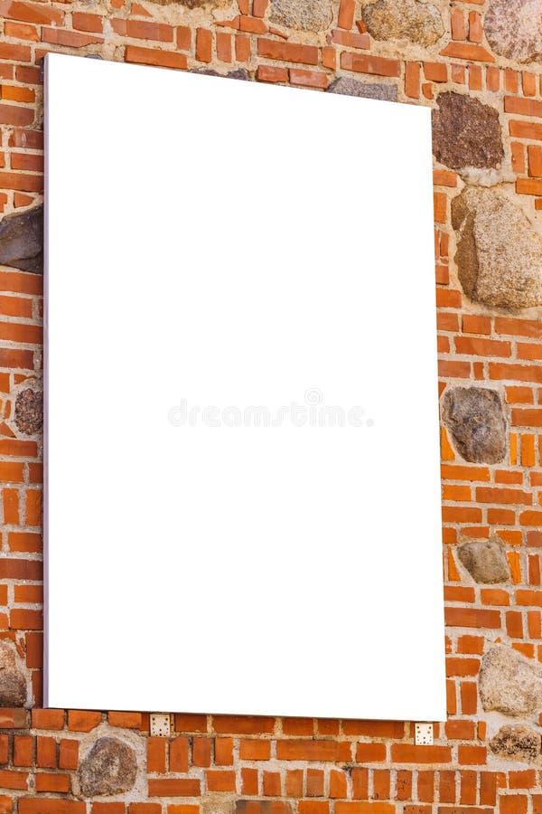 Egzamin próbny Up Pusty billboard outdoors, plenerowej reklamy signboard, informaci publicznej deska na ścianie obraz royalty free