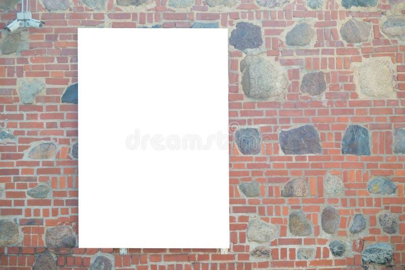 Egzamin próbny Up Pusty billboard outdoors, plenerowej reklamy signboard, informaci publicznej deska na ścianie zdjęcia royalty free