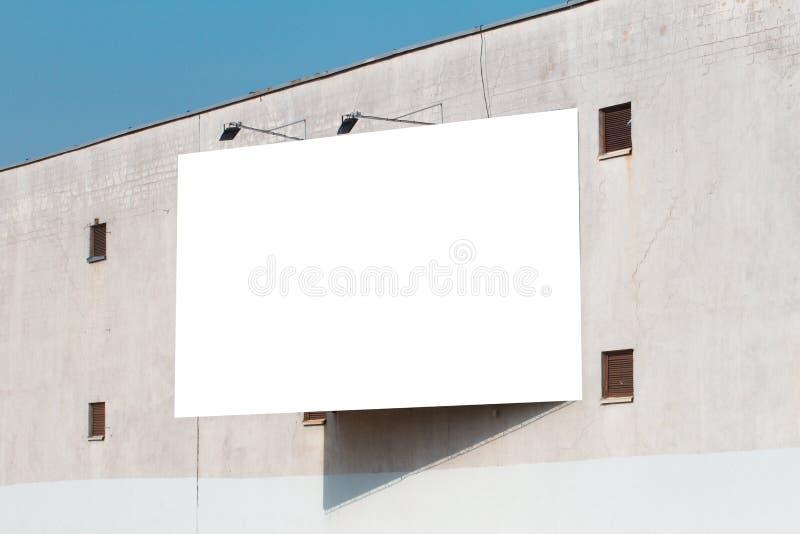 Egzamin próbny Up Pusty pionowo billboard, plakat rama, reklamuje na ścianie fotografia royalty free