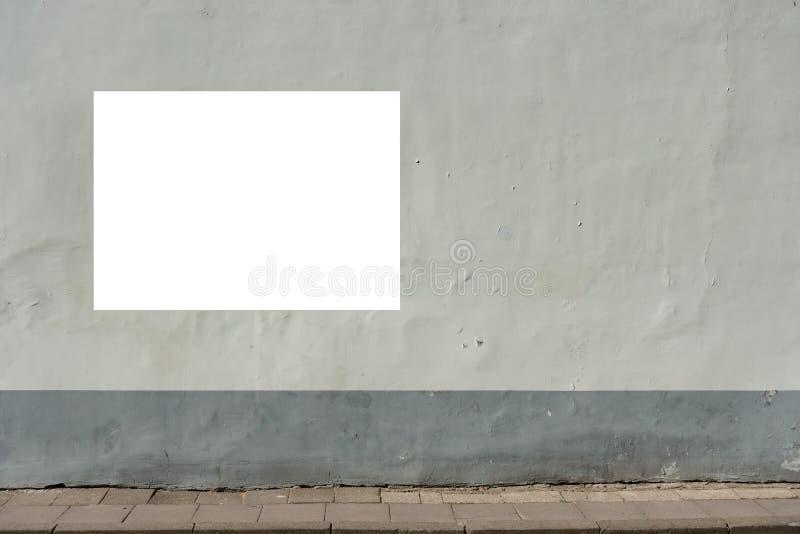 Egzamin próbny Up Pusty signboard outdoors, informaci publicznej deska na ścianie zdjęcie stock