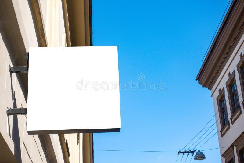 Egzamin próbny Up Pusty signboard sklep lub restauracja na ścianie zdjęcia royalty free