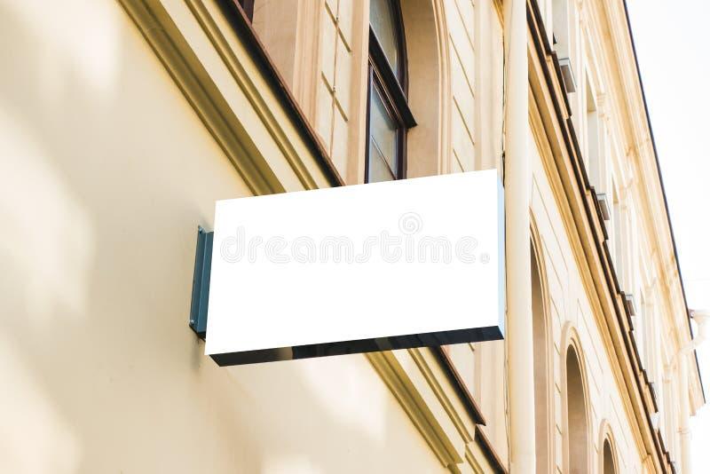 Egzamin próbny Up Signboard sklep, sklep lub restauracja na ścianie, obraz royalty free