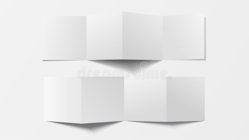 Egzamin próbny w górę 3d ulotki pustego miejsca Odgórny widok Dla broszurki, ulotka, broszura, handbill projekt, katalogu szablon royalty ilustracja