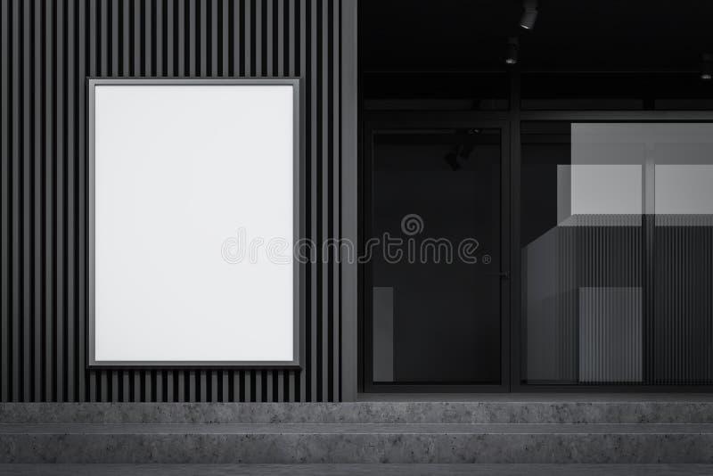 Egzamin próbny w górę plakata na szarej budynek ścianie ilustracja wektor