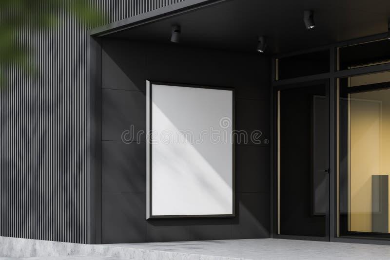 Egzamin próbny w górę sztandaru na szarej budynek ścianie ilustracji