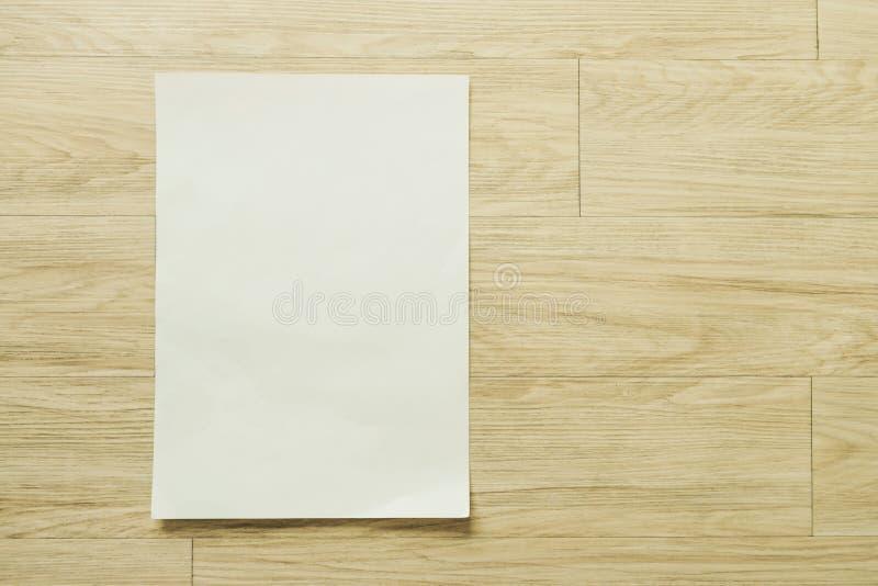 Egzamin próbny w górę ulotki broszurki projekta A4 rozmiaru papieru układu broszurowej przestrzeni dla szablon ilustraci mockup fotografia stock