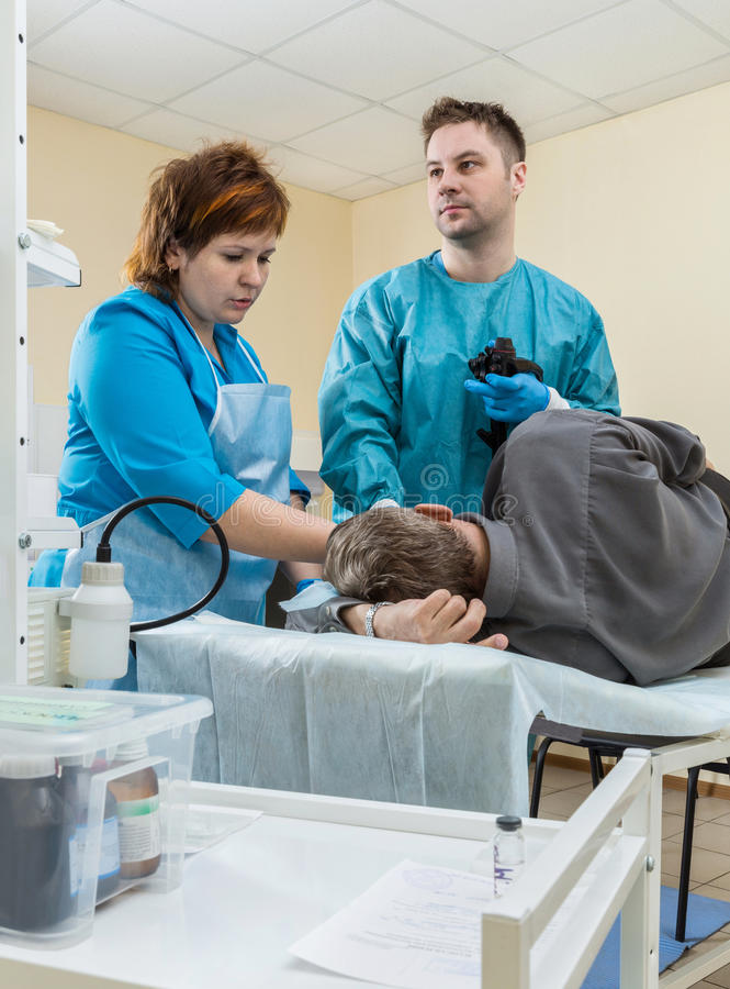 Egzamin w endoskopu pokoju obraz royalty free