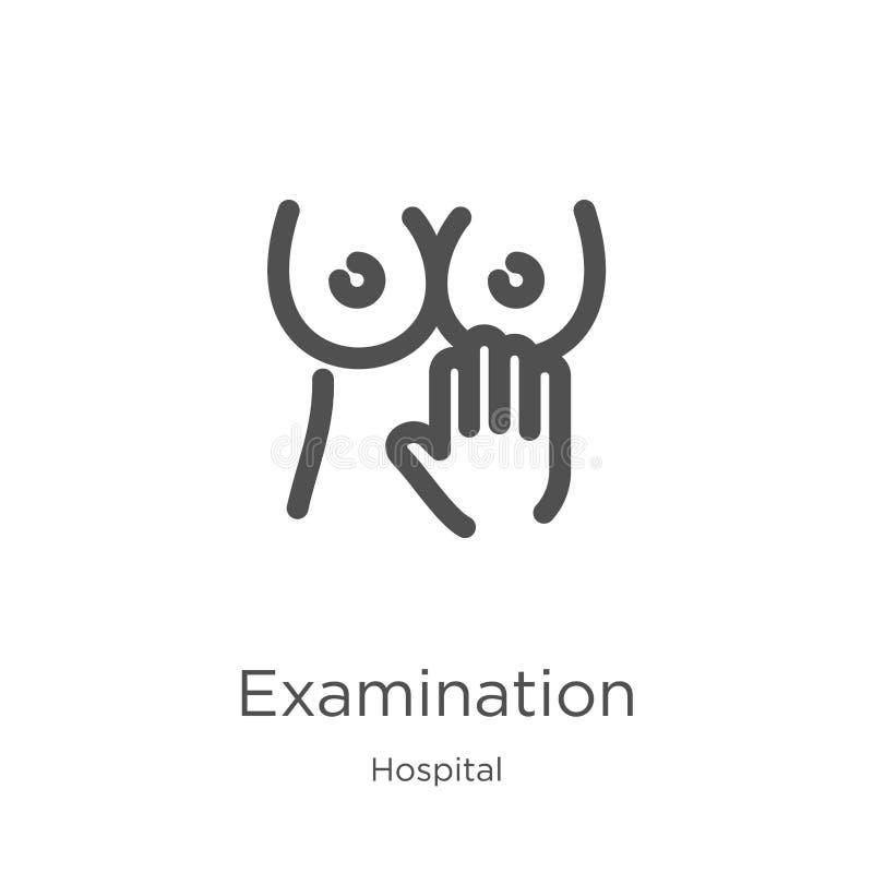 egzaminacyjny ikona wektor od szpitalnej kolekcji Cienka kreskowa egzaminacyjna kontur ikony wektoru ilustracja Kontur, cienieje  ilustracja wektor