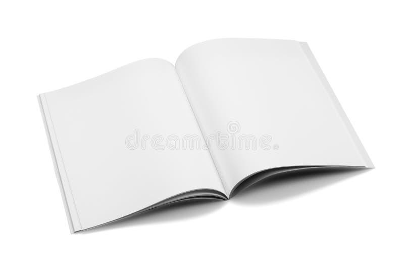 Egzaminu próbnego magazyny, książka lub katalog na bielu stołu tle, zdjęcia royalty free