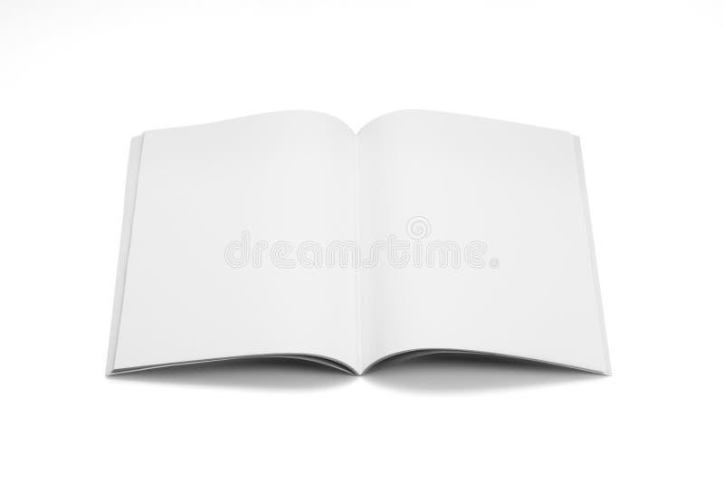 Egzaminu próbnego magazyny, książka lub katalog na bielu stołu tle, obraz royalty free