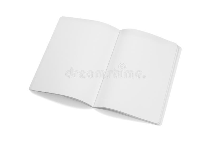Egzaminu próbnego magazyny, książka lub katalog na bielu stołu tle, zdjęcie royalty free