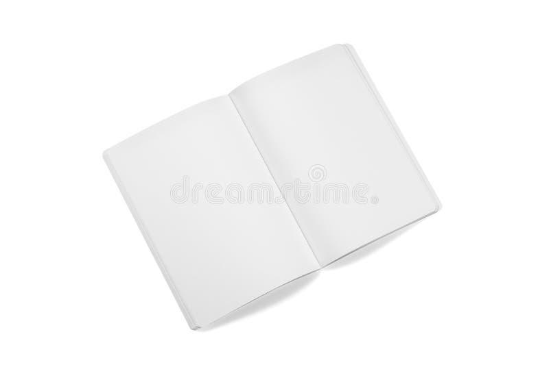 Egzaminu próbnego magazyny, książka lub katalog na bielu stołu tle, obrazy stock