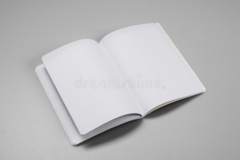 Egzaminu próbnego magazyny, książka lub katalog na szarość, zgłaszają tło zdjęcia stock
