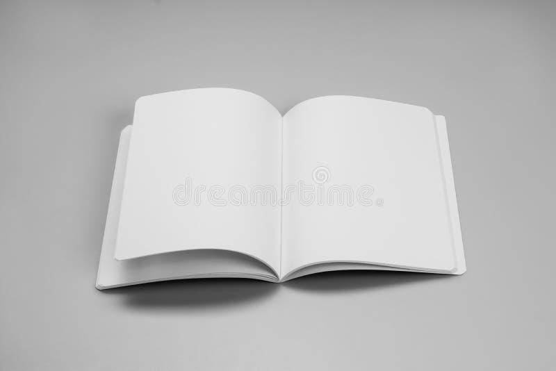 Egzaminu próbnego magazyny, książka lub katalog na szarość, zgłaszają tło zdjęcia royalty free