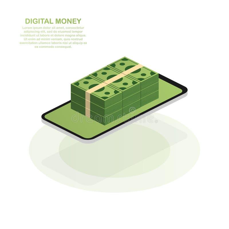 Egzaminu próbnego projekta strony internetowej projekta pojęcia płaski cyfrowy marketing Cyfrowego pieniądze również zwrócić core ilustracji