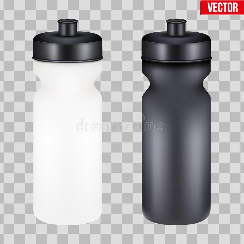 Egzaminu próbnego sporta odżywiania napoju Plastikowa butelka royalty ilustracja