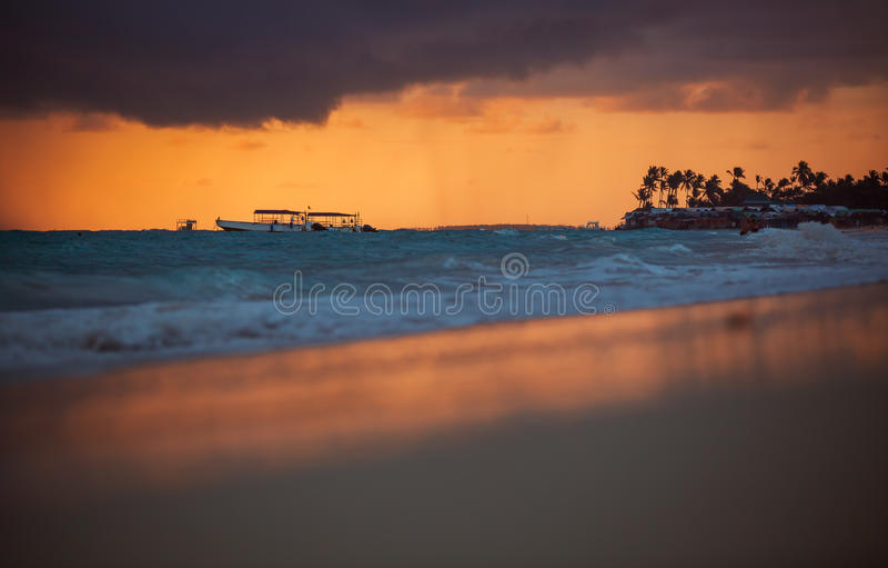 Egzot plaża w republice dominikańskiej, punta cana zdjęcie stock