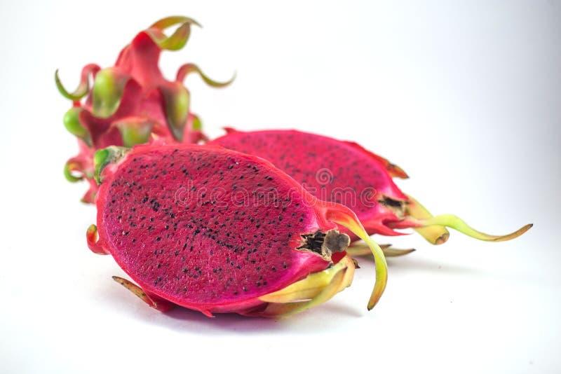 Egzotyczna dojrzała różowa Pitaya lub smoka owoc Czerwony Pitahaya tropikalny f zdjęcia royalty free
