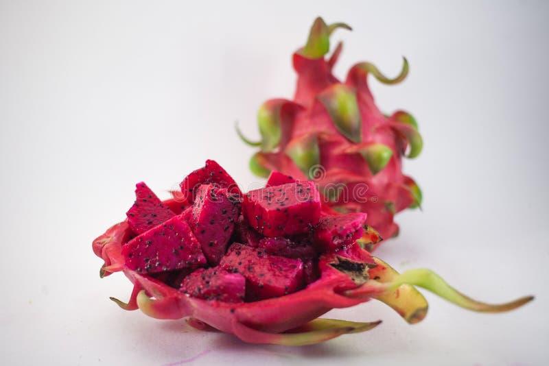 Egzotyczna dojrzała różowa Pitaya lub smoka owoc Czerwony Pitahaya tropikalny f obrazy stock