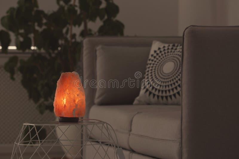 Egzotyczna Himalajska solankowa lampa fotografia stock