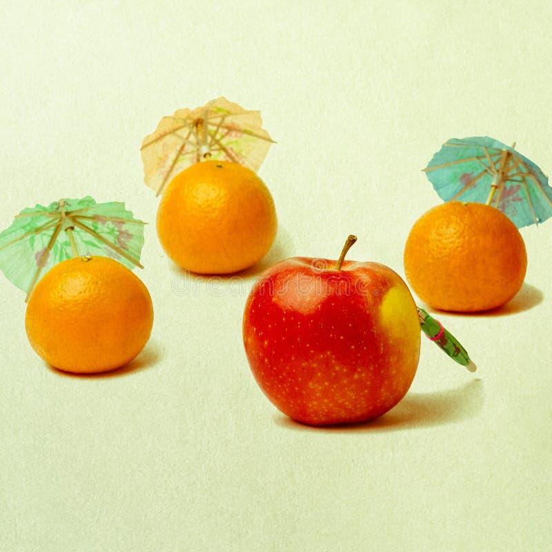 Egzotyczna owoc - kwadrat fotografia stock