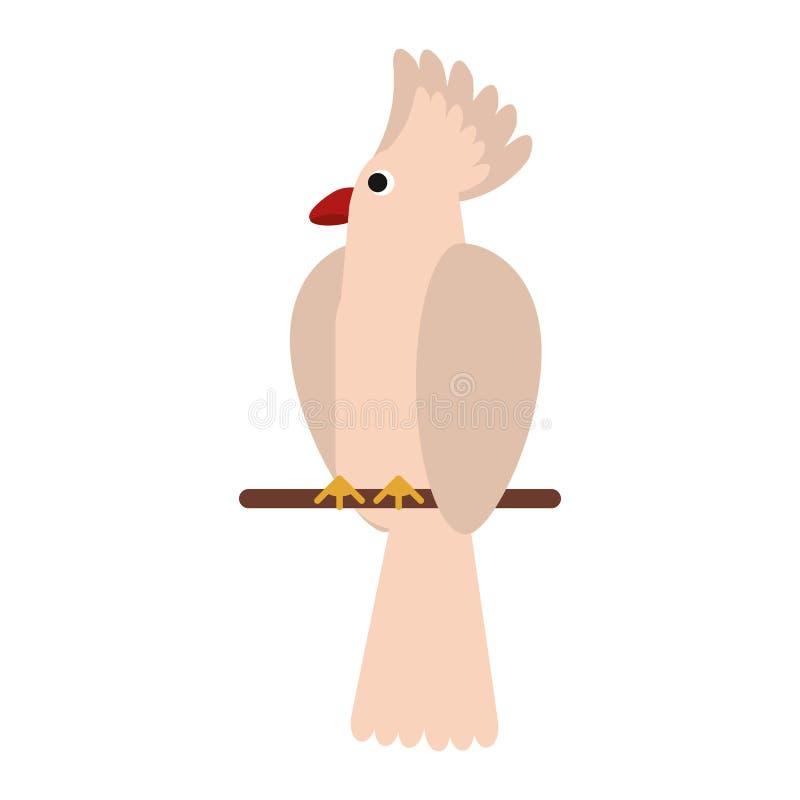Egzotyczna ptasia kreskówka ilustracji