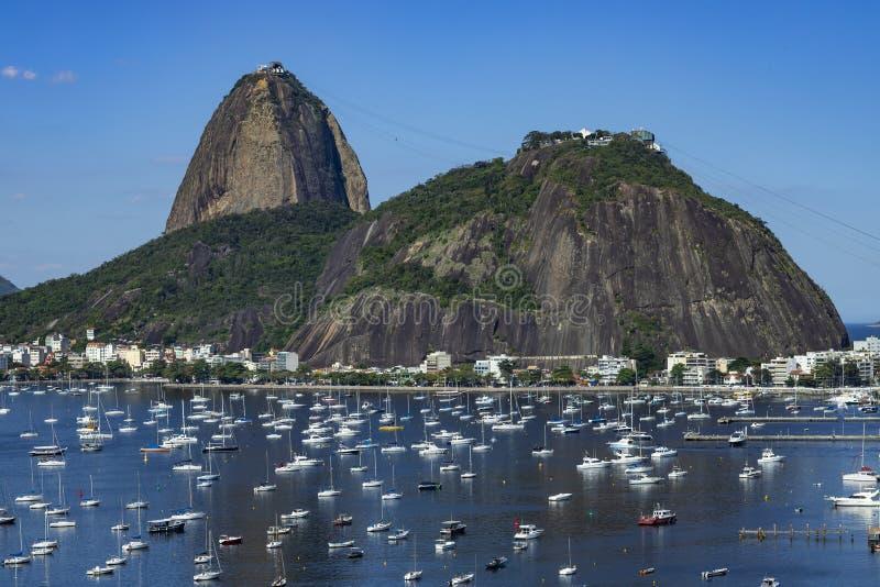 Egzotyczne góry sławne góry Góra Cukrowy bochenek w Rio De Janeiro, Brazylia Ameryka Południowa obraz royalty free