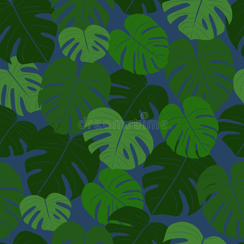 Egzotyczni tropikalni li?cie Monstera kolekcja royalty ilustracja