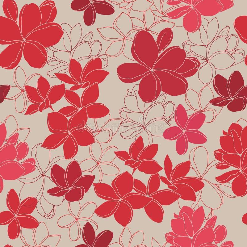 Egzotycznych tropikalnych kwiat?w bezszwowy wz?r ilustracji