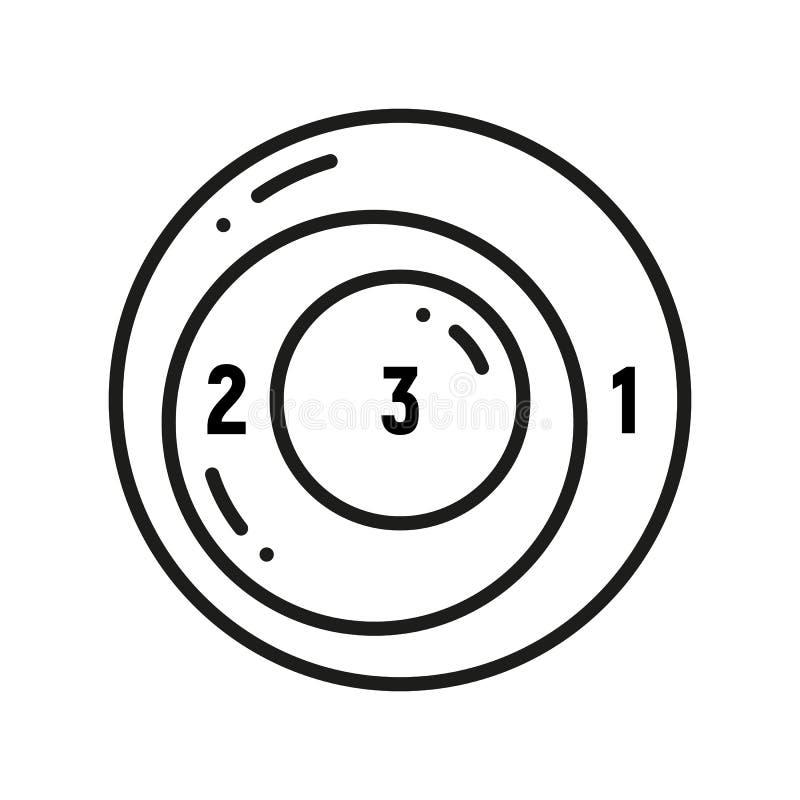 Egzystencjalna wykres kredy ikona Diagrammatic dla logicznych wyrażeń Symboliczny przedstawicielstwo informacja Zwi?zki po?rodku ilustracja wektor