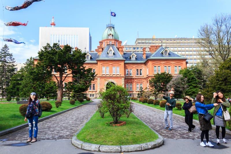 Ehemalige Hokkaido-Regierungsstelle in Sapporo, Japan lizenzfreie stockbilder