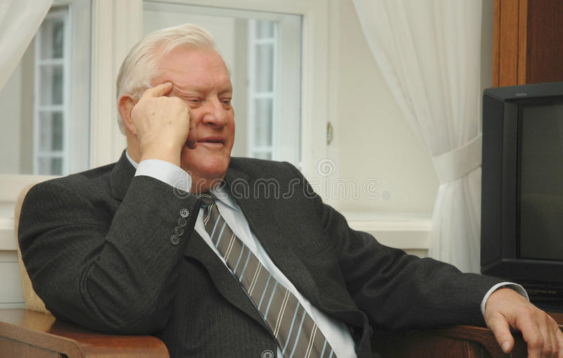 Ehemaligen Litauens Präsident Algirdas Brazauskas stockfoto