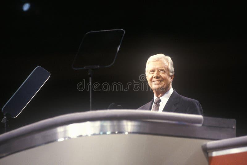 Ehemaliger Präsident Jimmy Carter stockbild
