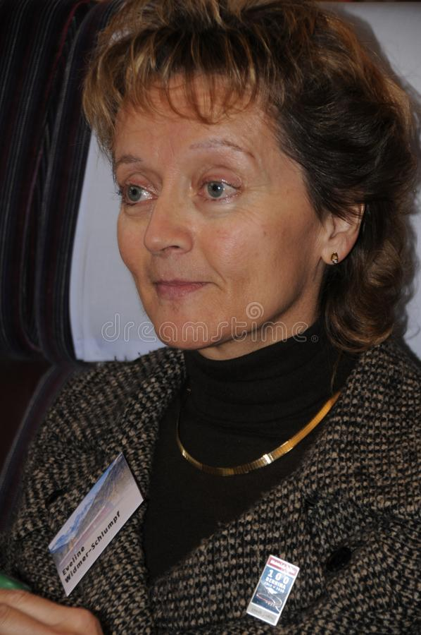 Ehemaliger Schweizer Kanzler und Justizminister Eveline Widmer-S lizenzfreies stockfoto