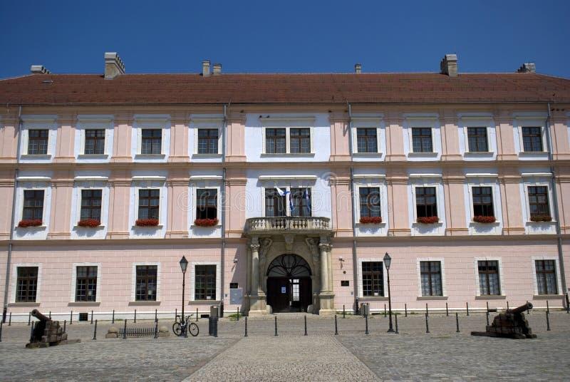 Ehemaliger Slavonian Kommandant Headquarter, Osijek, Kroatien lizenzfreie stockfotografie