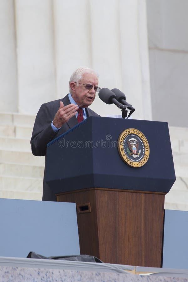 Ehemaliger US-Präsident Jimmy Carter stockfotos