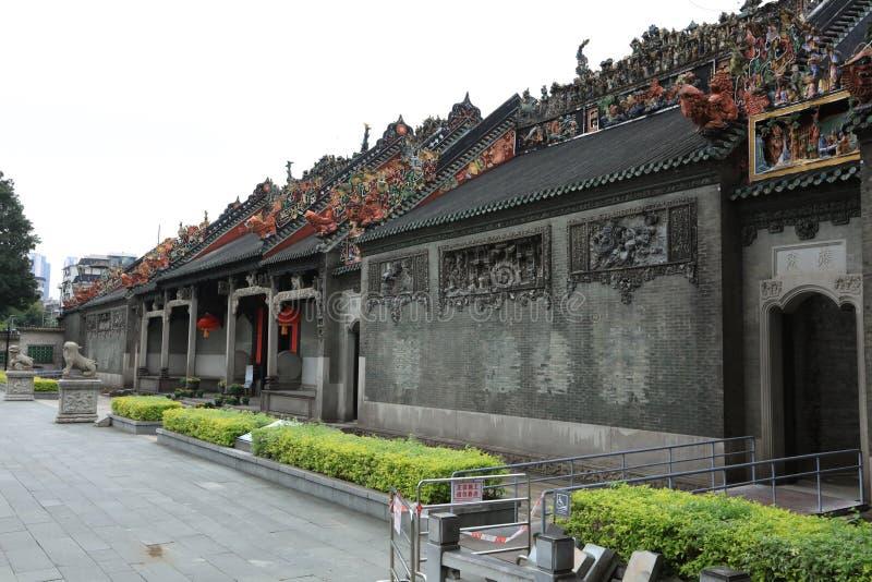 Ehemaliger Wohnsitz von Chen Fang - eine Guangzhou-historische Stätte - Guangdong - China lizenzfreie stockbilder