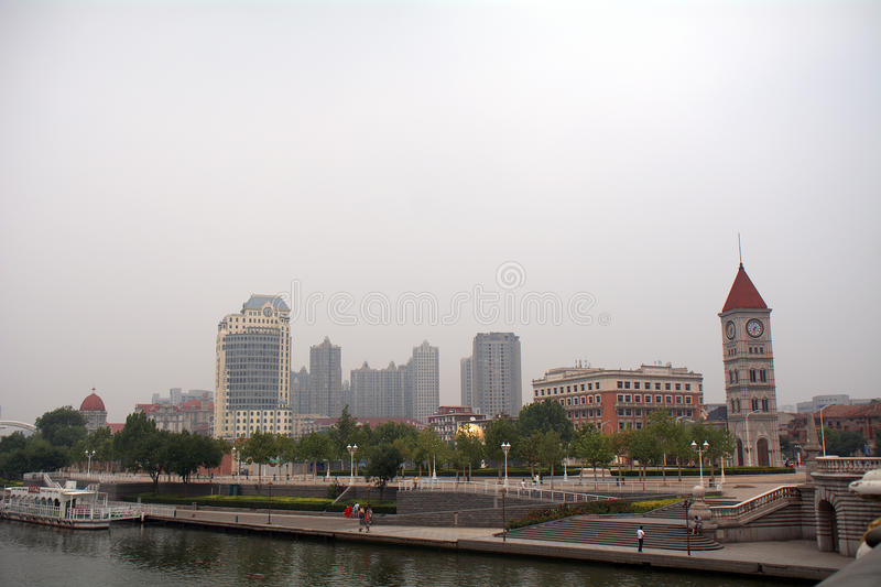 Ehemaliges Austro-ungarisches Zugeständnis, Tianjin, China stockfotografie