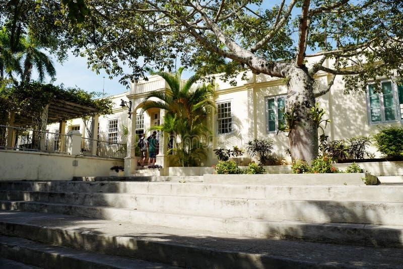 Ehemaliges Haus von Ernest Hemingway in Kuba stockfotos