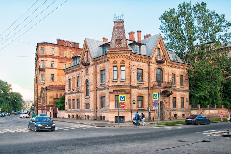 Ehemaliges Haus von Victor Schroter in St Petersburg Russland stockbild
