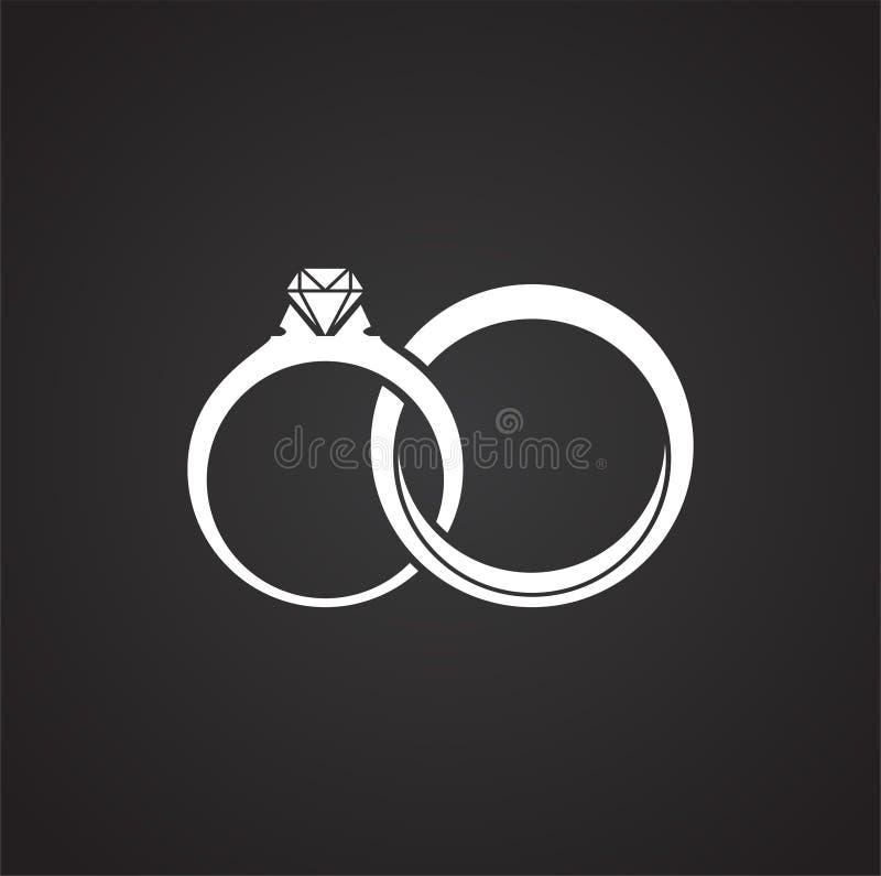 Eheringikone auf Hintergrund f?r Grafik und Webdesign Einfache Abbildung Internet-Konzeptsymbol f?r Website lizenzfreie abbildung