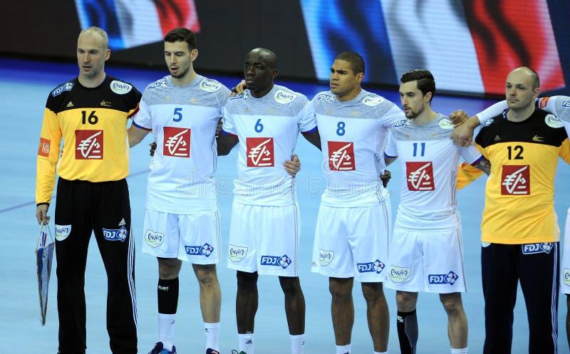 EHF欧元2016年法国塞尔维亚 库存图片